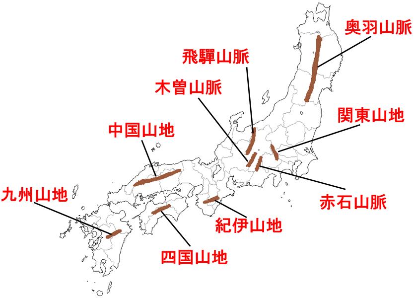 地理4-3 日本の地形 解説