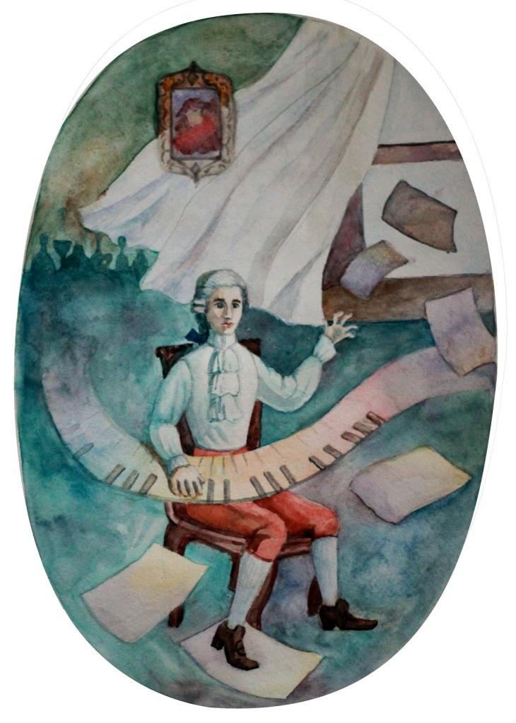 Рябова Полина, г. Нижний Новгород, ДХШ № 3, Амадей. Вдохновение