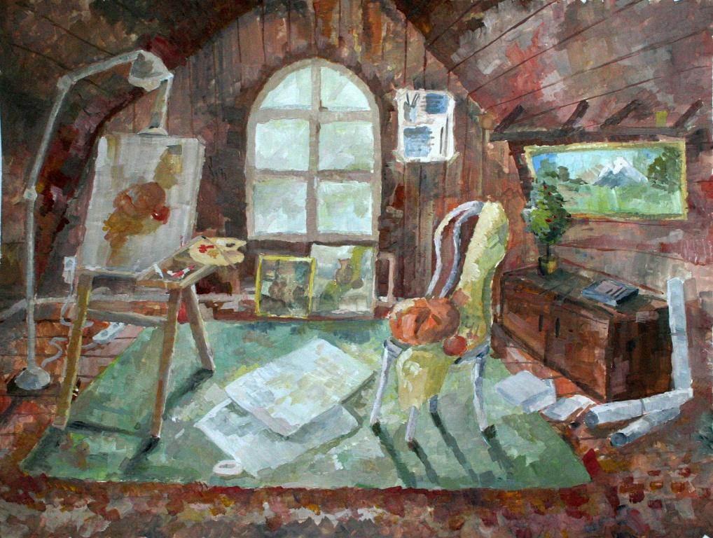 Кулабухова Дарья, Кемеровская область, г. Юрга,  МБУДО ДХШ № 7. В мастерской художника