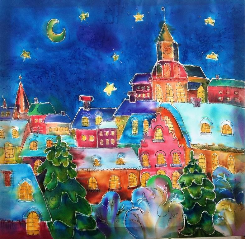 Мухлынина Дарья, Челябинская область,  г. Еманжелинск МКУ ДО ЦДТ    Радуга.     Ночной город