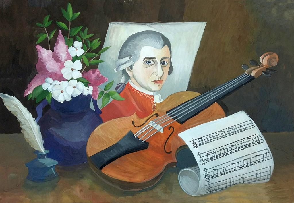 Гибадуллина Карина, г. Челябинск, МАУ ДО ДХШИ.  натюрморт с портретом