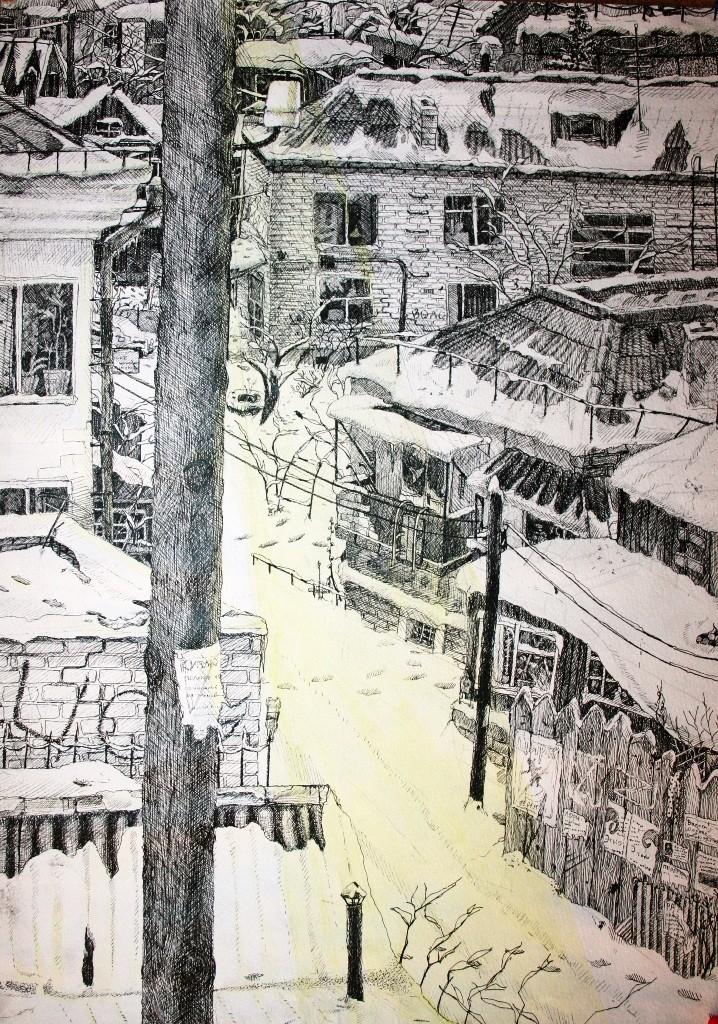 Захарченко Александра,  Челябинск, ДХШИ, Ноктюрн. Вид из окна
