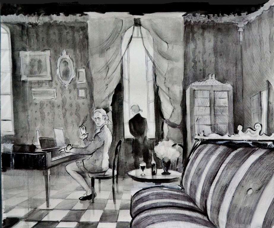 Казанцев Александр Валерьевич, Чайковский, Чайковское музыкальное училище.  В гостиной