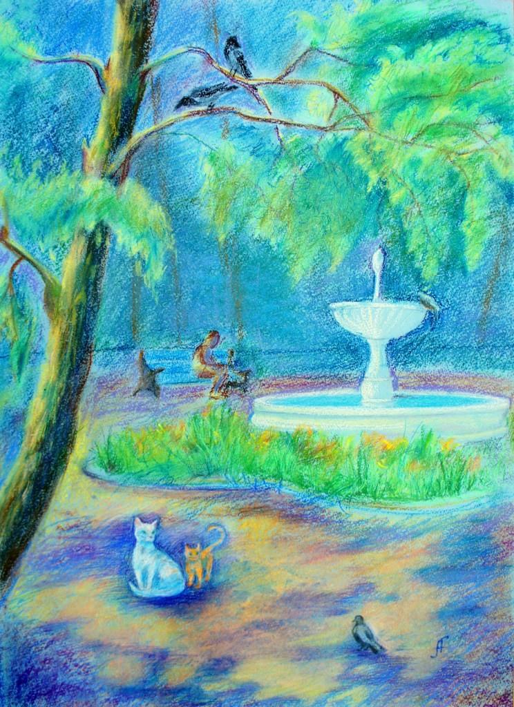 Гарифуллина Алена, Челябинская область, г. Миасс, ДШИ № 4, Скверик у фонтана