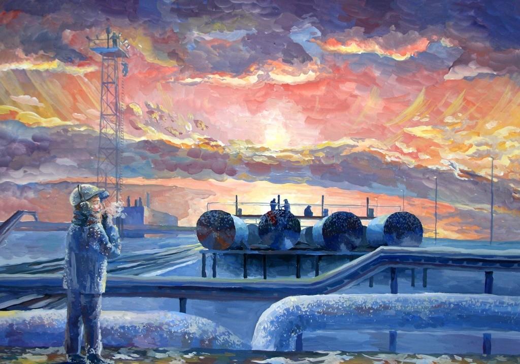 Яровенко Мария, ЯНАО, г. Ноябрьск, Центр национальных культур, Солнце над газовым промыслом