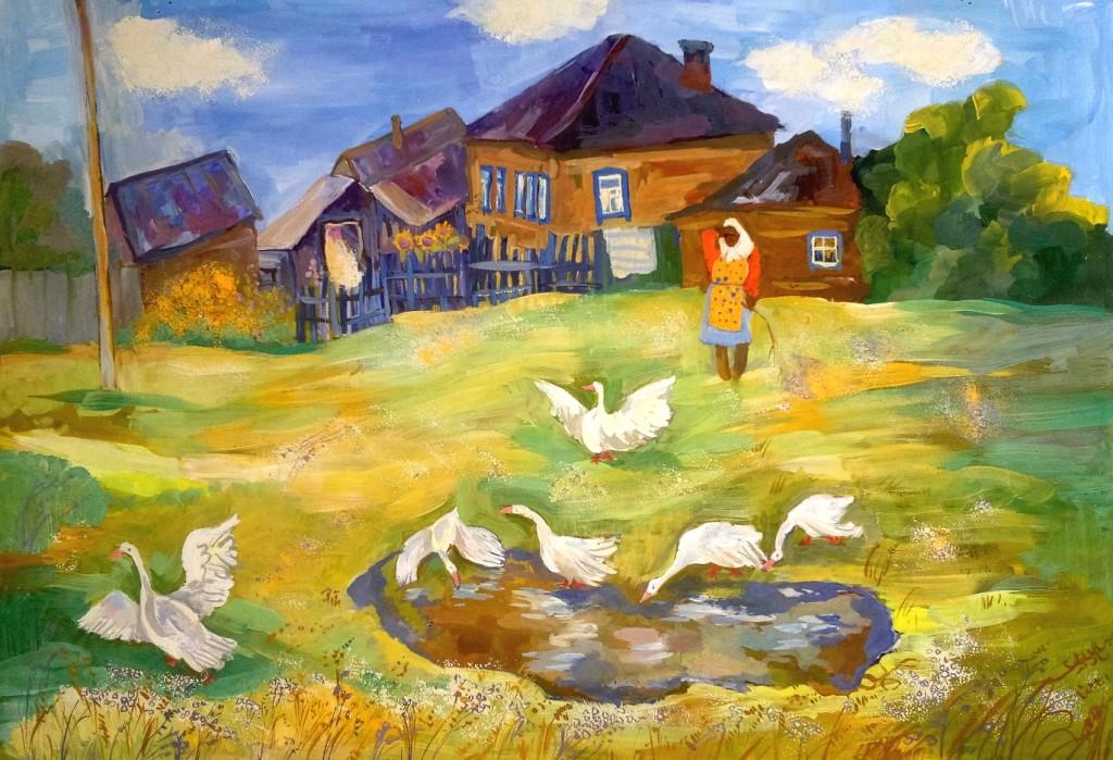 Пустошкина Анна, г. Пенза,  ДХШ № 2. Хорошо в деревне летом