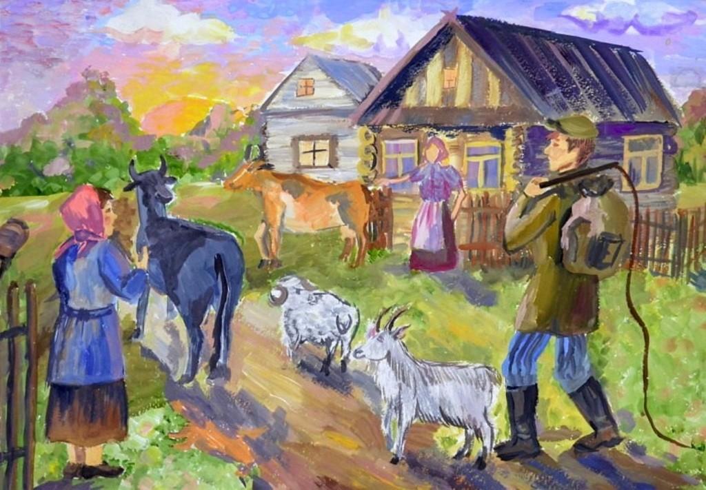 Панченкова Анастасия, Зауральский, ДШИ № 3. Утро в деревне