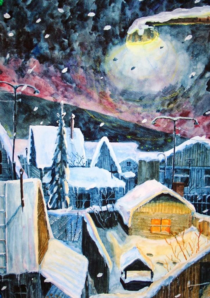 Захарченко Александра,  Челябинск, ДХШИ, Рождественская ночь