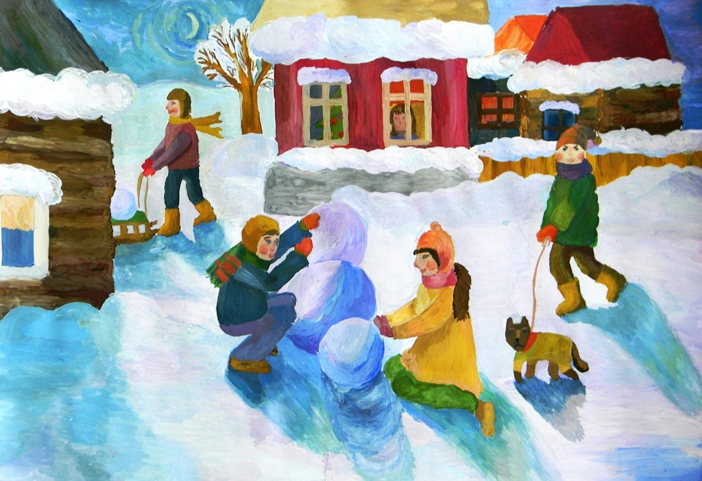 Рахматуллина Анастасия,  Троицк,  ДШИ № 1, Зимние каникулы в деревне