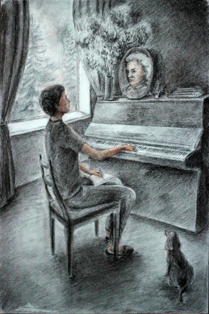 Утина Анастасия, г. Нижний Новгород, ДХШ № 3, Диалог с Моцартом