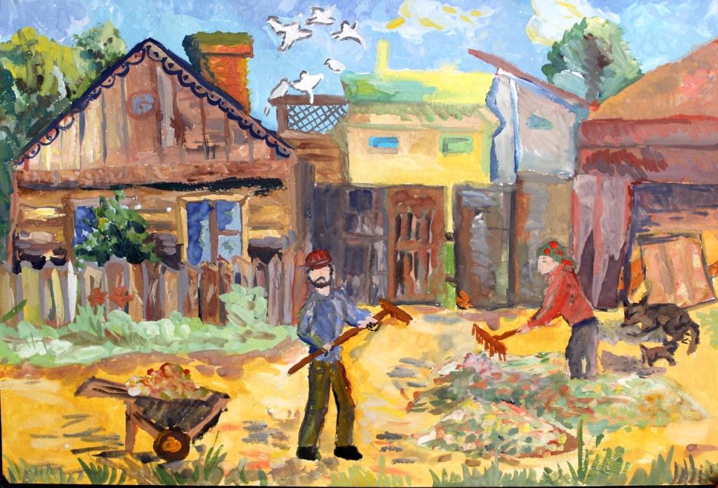 Аркашов Михаил, Челябинская область, п. Зауральский, МБОУ ДО ДШИ № 3. Уборка возле дома