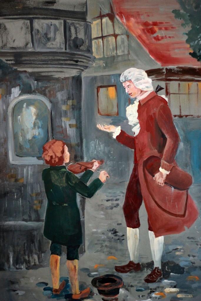 Стулова Арина, г. Нижний Новгород, ДХШ № 3, Моцарт и мальчик-скрипач