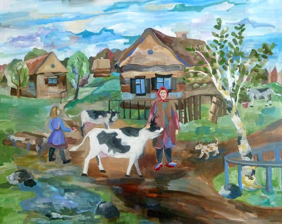 Кулибаба Анастасия, Челябинская область, г. Копейск, ДШИ № 2, Вечер в  деревне