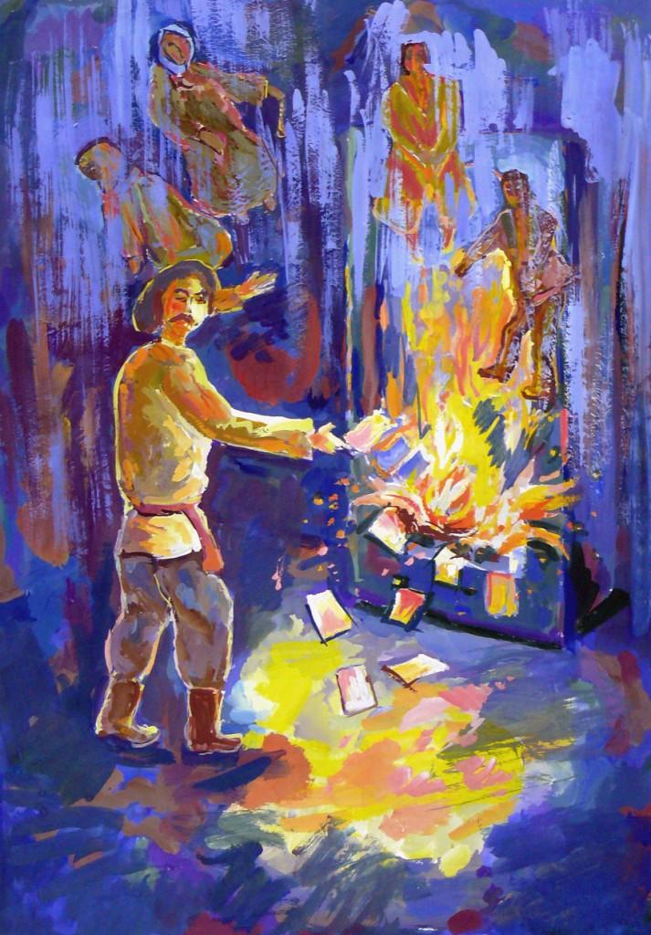 Савин Антон, г. Пенза, МБУ ДО ДХШ № 2.  Гоголь сжигает рукописи Мертвых душ