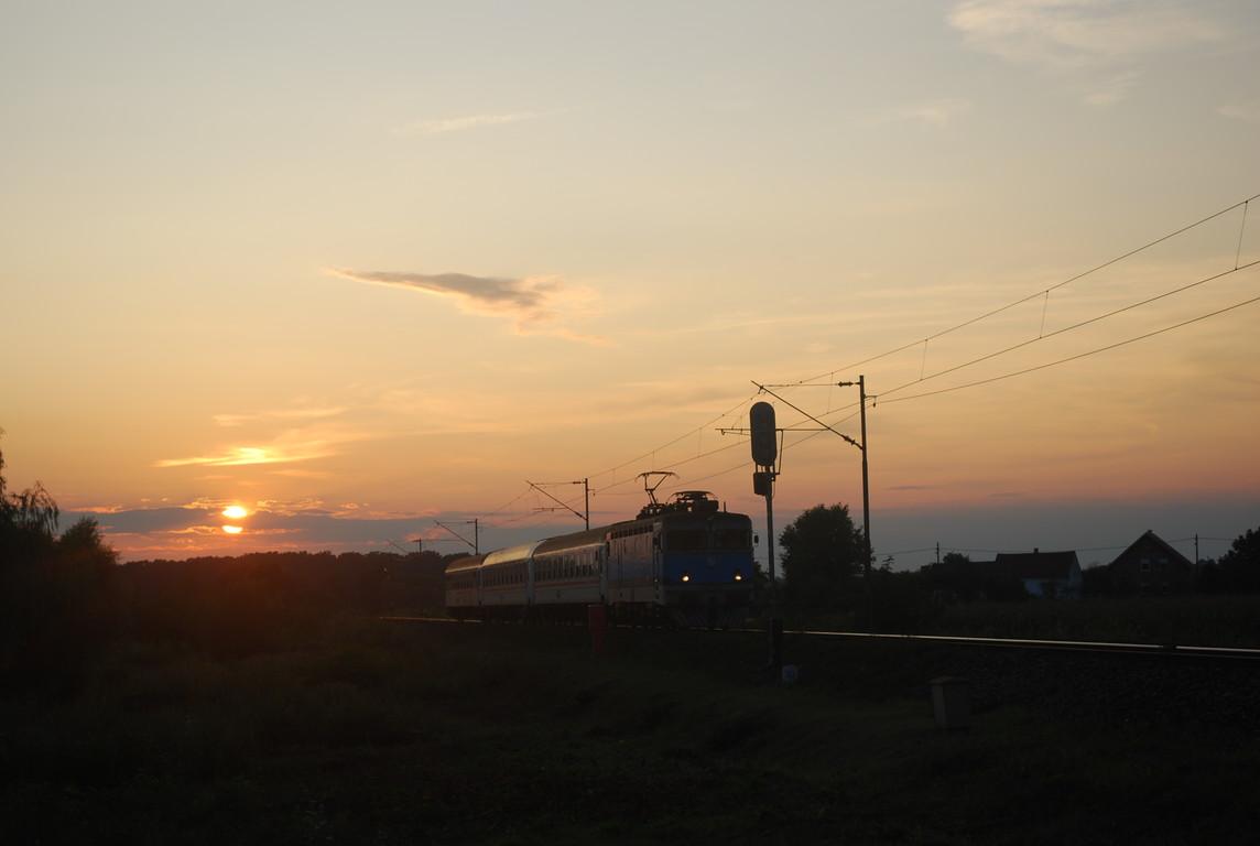 en arrivant à Novska, en Slavonie.
