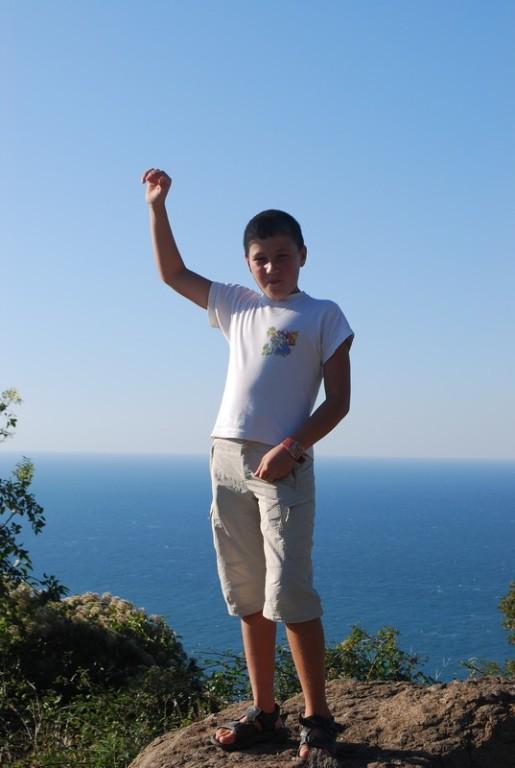 Ahmet en plein triomphe apres les 10 km de cote qu on a abattus ensemble