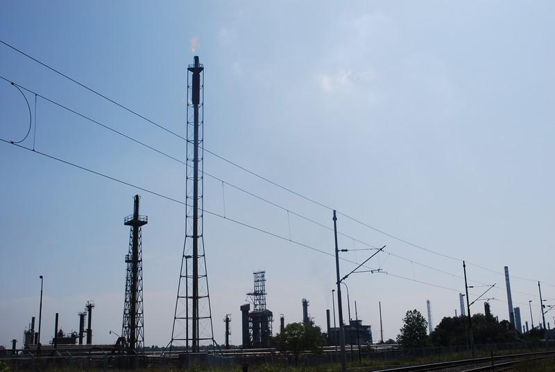 Sisak, une raffinerie plus grande que la ville.