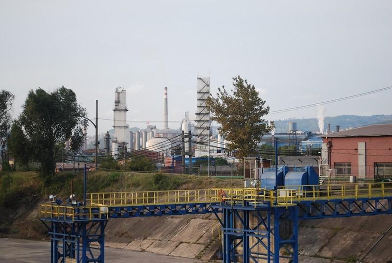 les acıerıes d Ereğlı, 5000 employes, sortie d usine spectaculaire