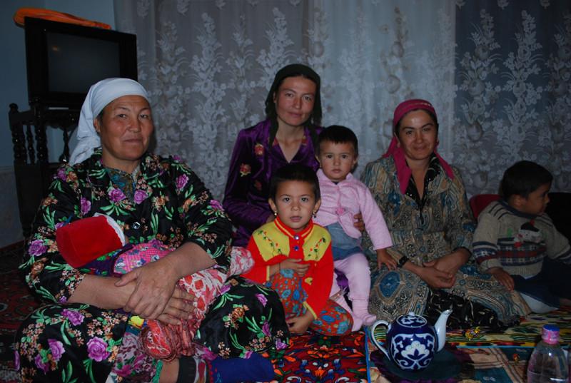 la famille de Marshouda, chez qui nous avons dormi