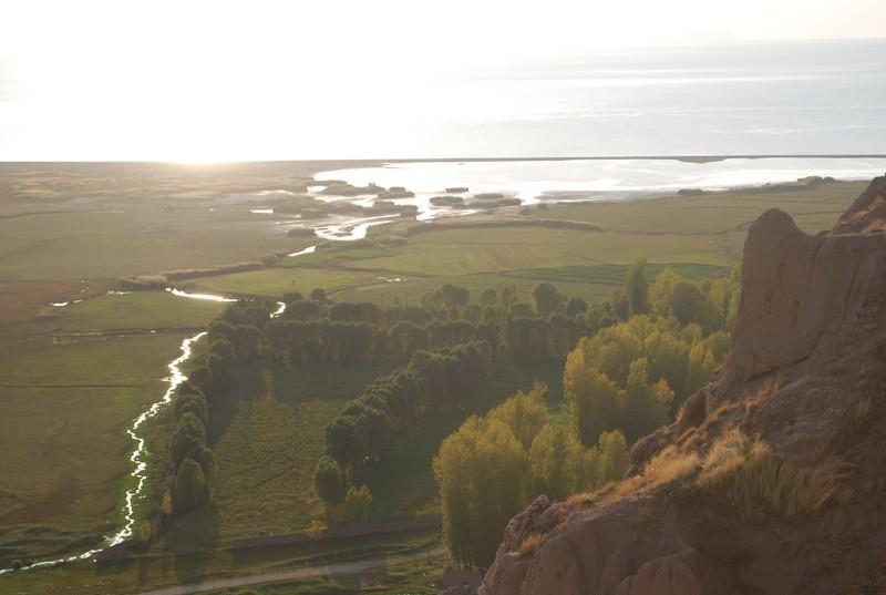le soleil sur le lac, depuis la citadelle de Van