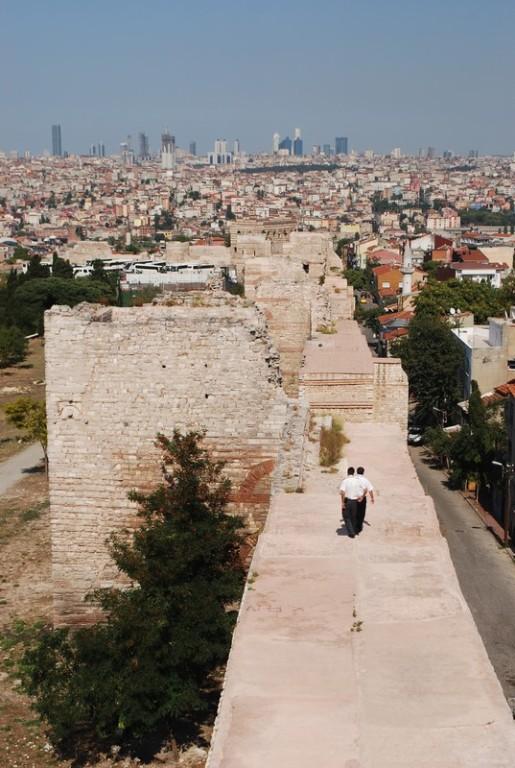 depuis les murailles de Theodose