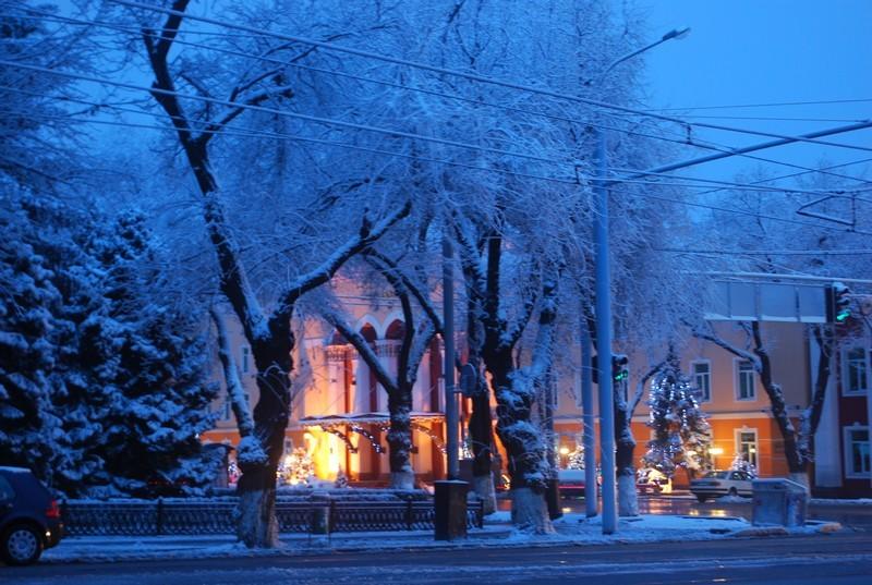première neige, matin