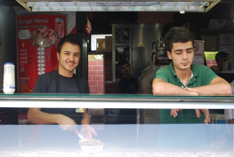 vendeurs de krumpir a Ortaköy