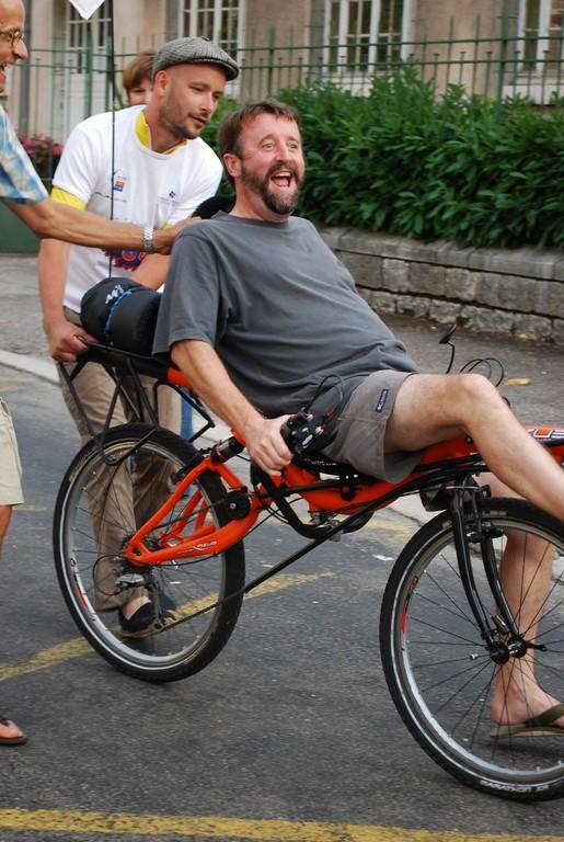 Essai de vélo à Dole