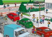 school op seef (verkeersplaten digibord)