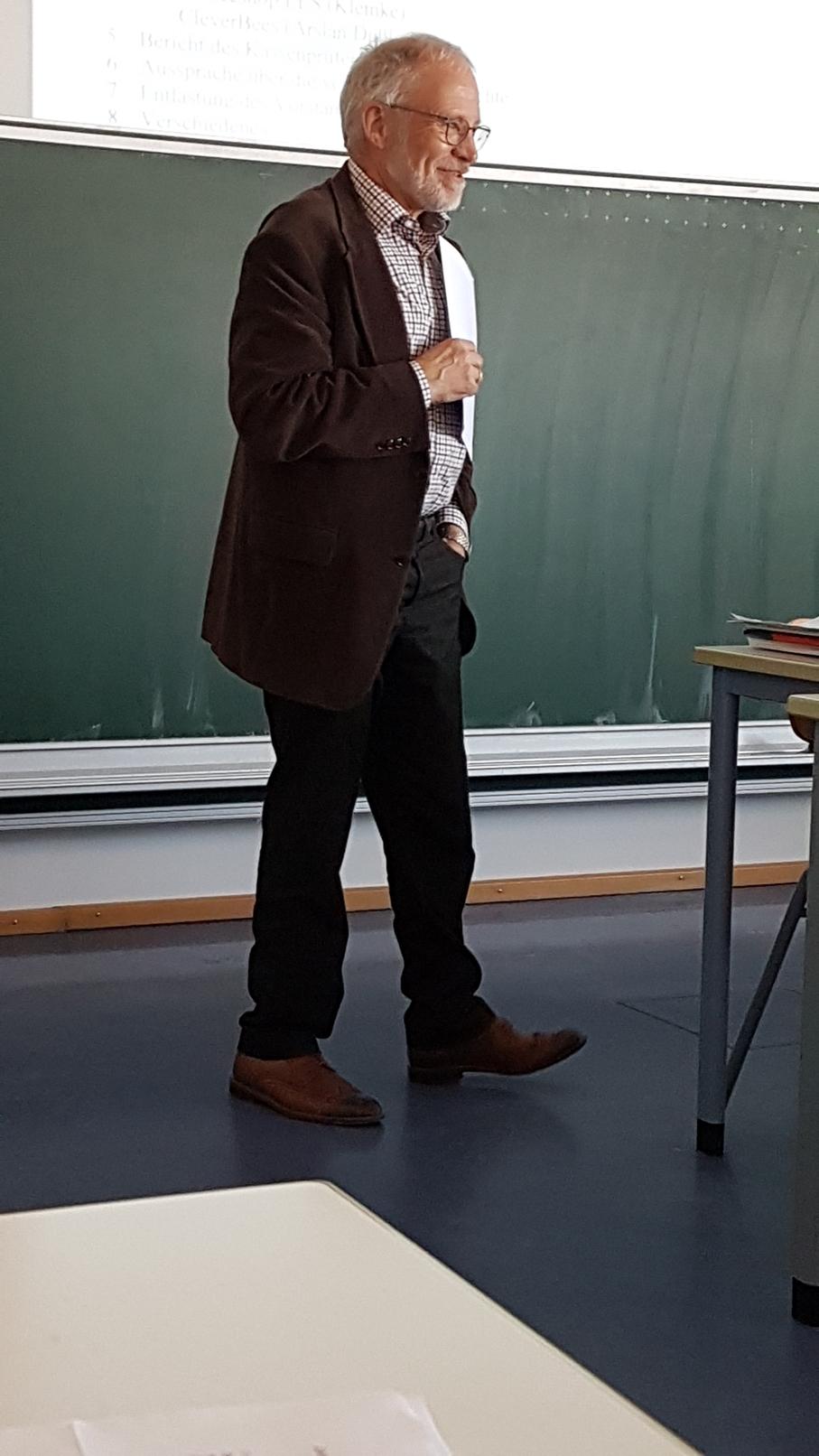 Bericht des Kassenprüfers Peter Schlang