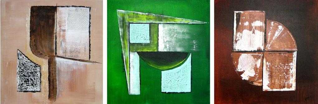 Triage( Format 120x40 Triptychon ) auf Leinen