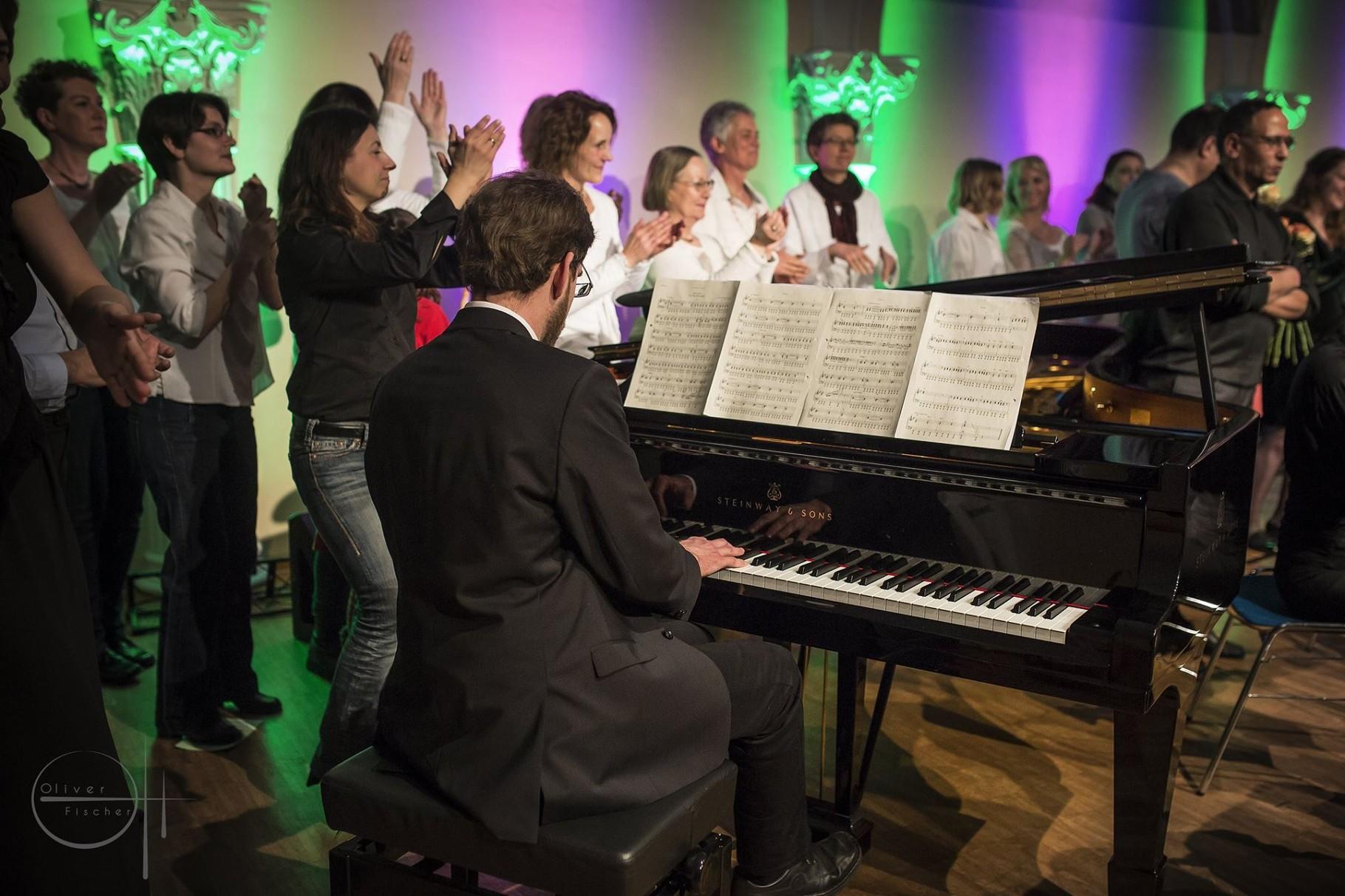 Kammerpop beim Willkommens-Event für Flüchtlinge, Kolosseum zu Lübeck