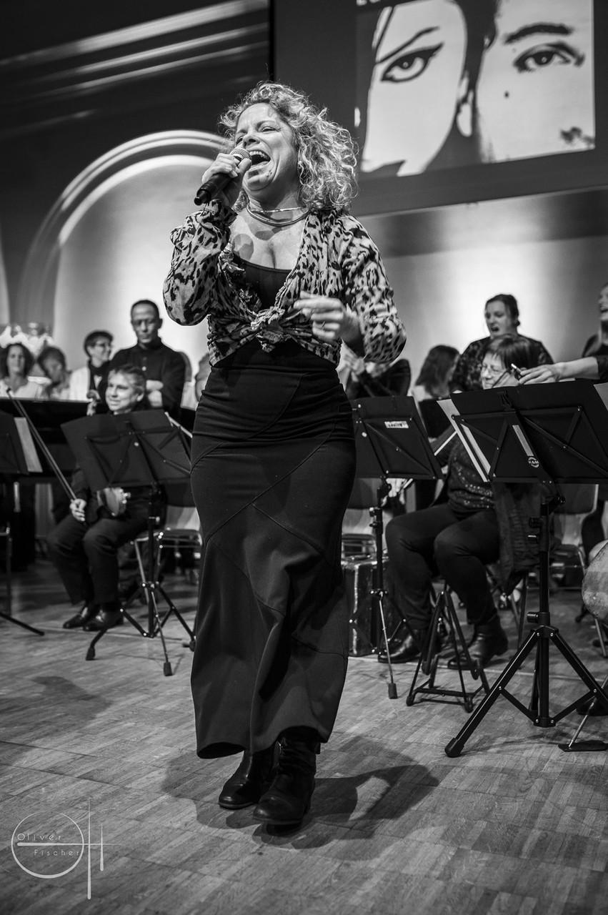 Kammerpop beim Willkommens-Event für Flüchtlinge, Monique Wengler, Kolosseum zu Lübeck