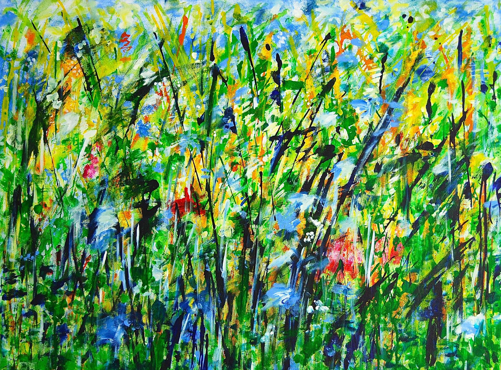 Gräser, Acryl auf Leinwand, 60 x 80 cm, 2014
