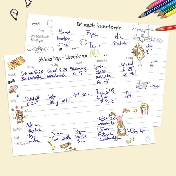 Die Wochenpläne haben Homeschooling für uns entspannter gemacht