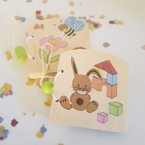Gewinne von mir illustrierte Holz-Kinderbücher