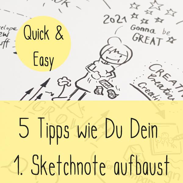 So baust Du ein Sketch Note auf - 5 Tipps