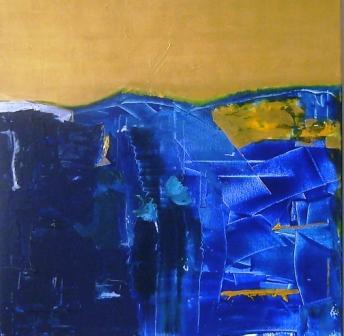 Horizonte, 80x80, Acryl auf Leinwand