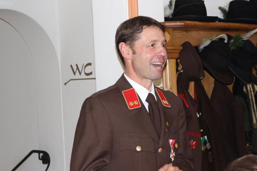 Für die Freiwillige Feuerwehr - Kommandant Paul Landmann jun.
