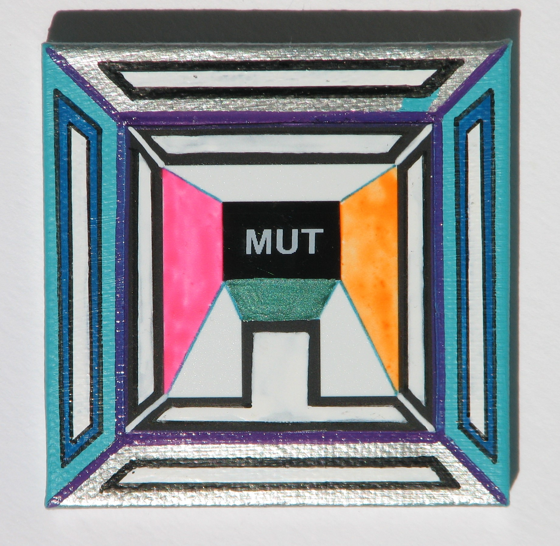 Mut  2016  Mixed Media  7 cm x 7 cm