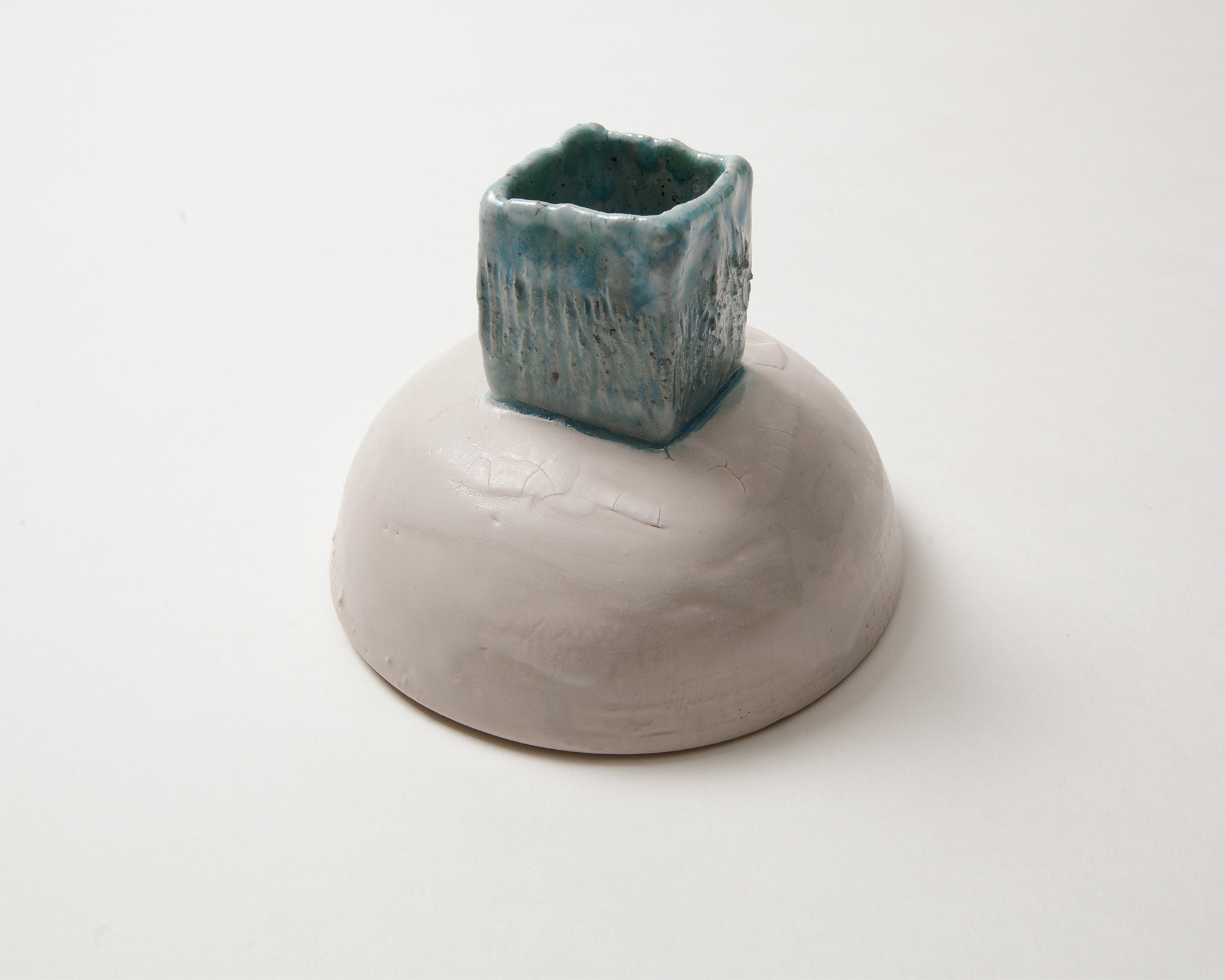 """Candle stand""  by Porcelain, Stone clay"