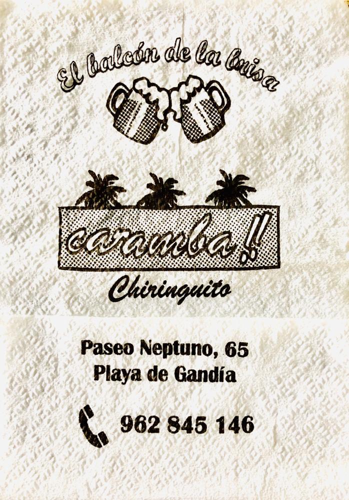 Chiringuito am Playa Gandia, 2019