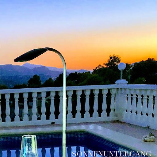 Ferienwohnung Valencia, Sonnenunterganf, September 2019