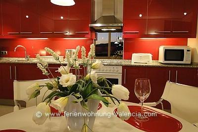 Küche Ferienwohnung Valencia