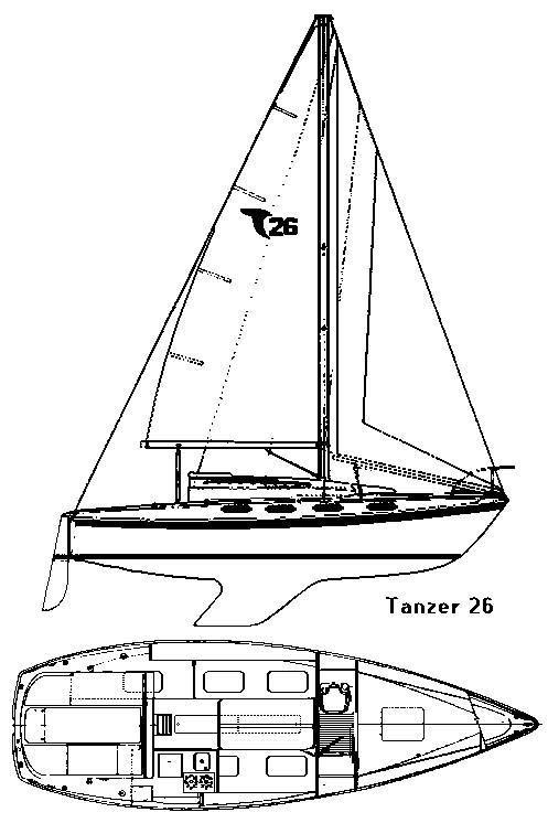 Plan d'un Tanzer 26 - 1975
