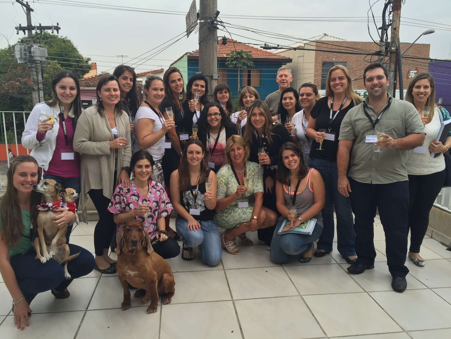 Participitants of the course for canine physical therapy and rehabilitation in Brazil