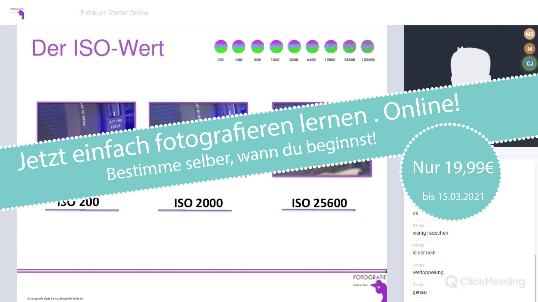 Einfach fotografieren lernen - Online!
