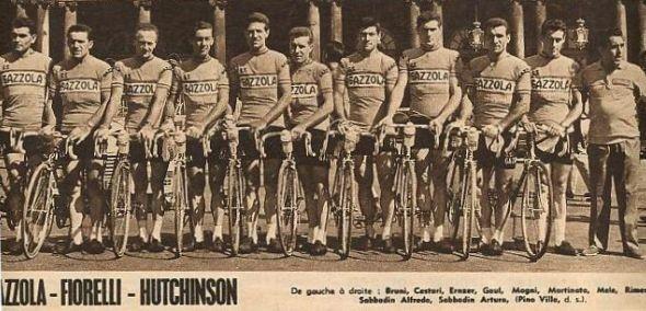 Foto courtesy: Erik Van Herck la squadra Gazzola del 1962, l'ultimo a dx è il ds Pino Villa.
