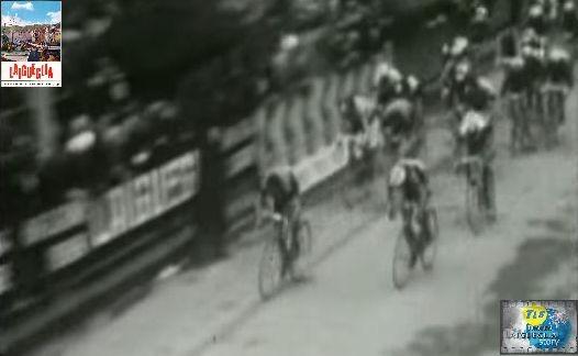 Foto courtesy: archivio TLS, rarissima fotografia dell'arrivo vittorioso di Michele Dancelli.