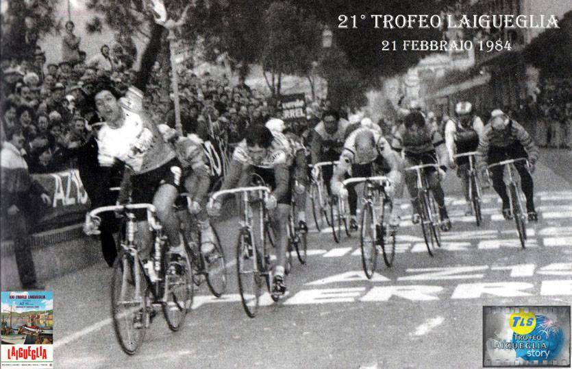 Foto courtesy: Archivio TLS, rarissima immagine dell'arrivo vittorioso di Giuseppe Petito davanti a Van der Velde e Torelli.